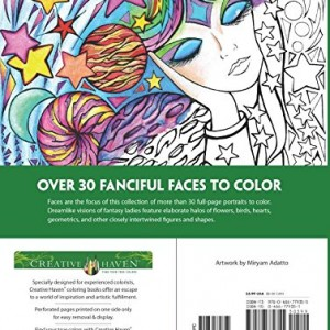 Creative Haven Fanciful Faces Coloring Book Books