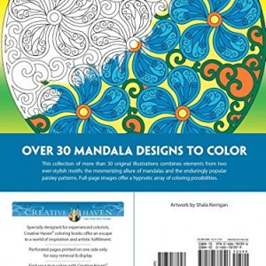 Creative Haven Paisley Mandalas Coloring Book (Creative Haven Coloring Books)