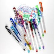 12 Glitter Gel Pens   Best Colored Gel Pens Set   Gelpen Ink for Art