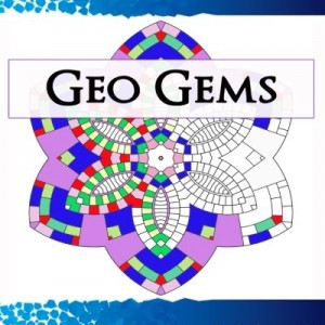 Geo Gems Four:: 50 Geometric Design Mandalas Offer Hours of Coloring Fun! Everyone in the family can express their inner artist (Volume 4)