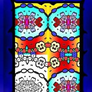 Mini Coloring Books: 45 Geometric Patterns (On the Go Adult Coloring Books) (Volume 4)