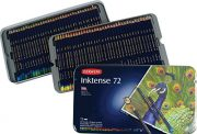 Derwent Inktense Pencils, 4mm Core, Metal Tin, 72 Count (2301843)